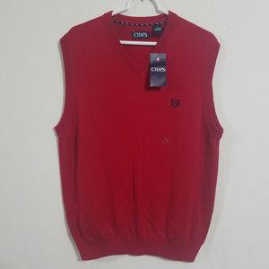 NWT Chaps Womens Medium Fleece Vest Jacket Red New